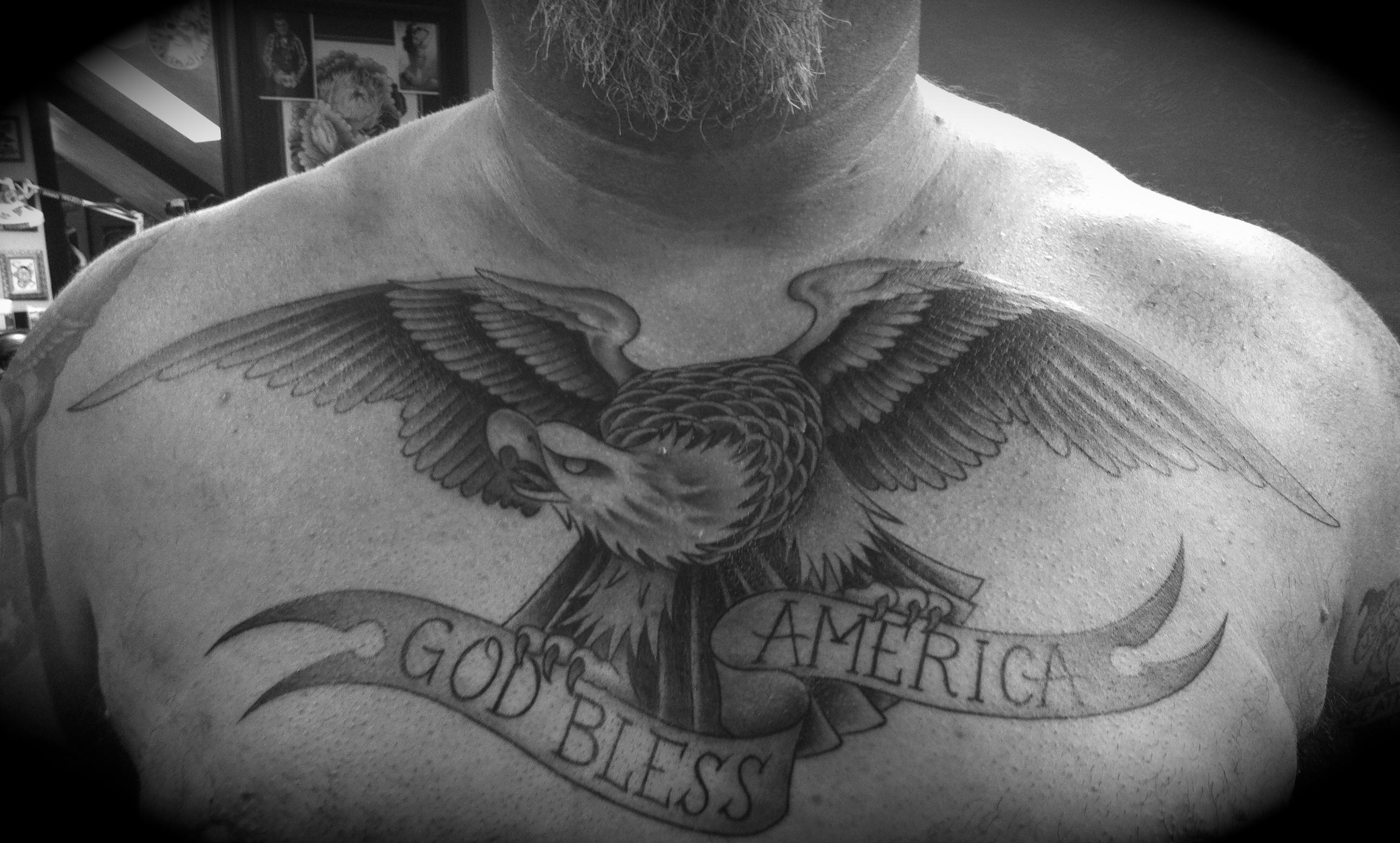 Eagle cobra custom tattoo for Black eagle tattoo shop