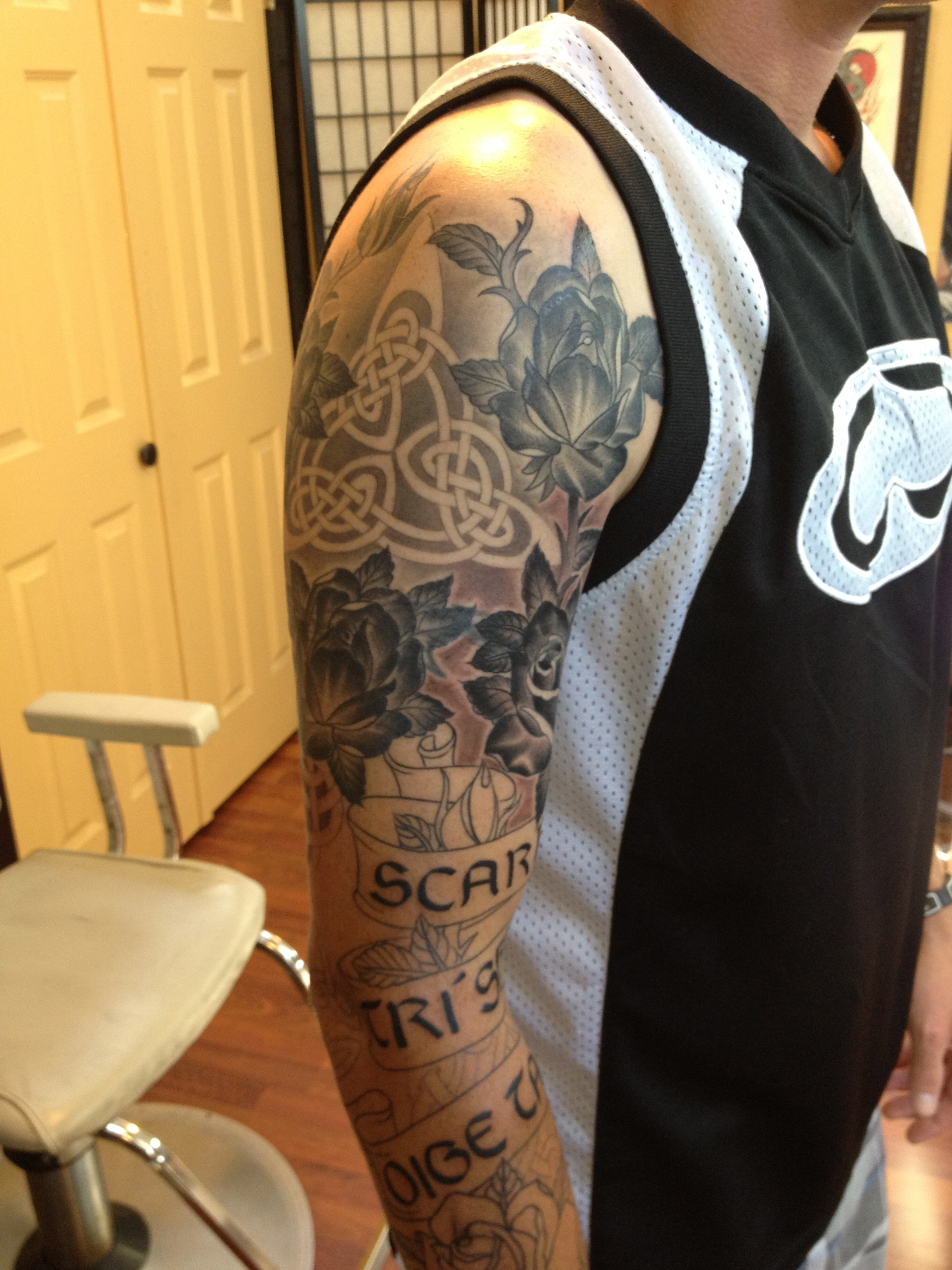 pics for gt celtic warrior sleeve tattoo