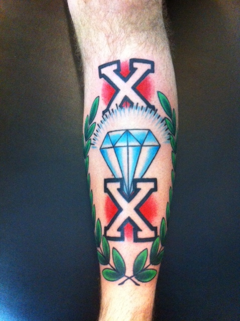 Straight edge cobra custom tattoo for Straight edge razor tattoo