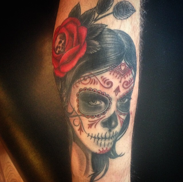 Day Of The Dead Cobra Custom Tattoo